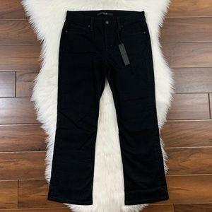 Joe's Black Olivia Mid Rise Cropped Flare Jeans